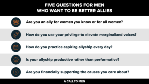Five questions for men who want to be better allies